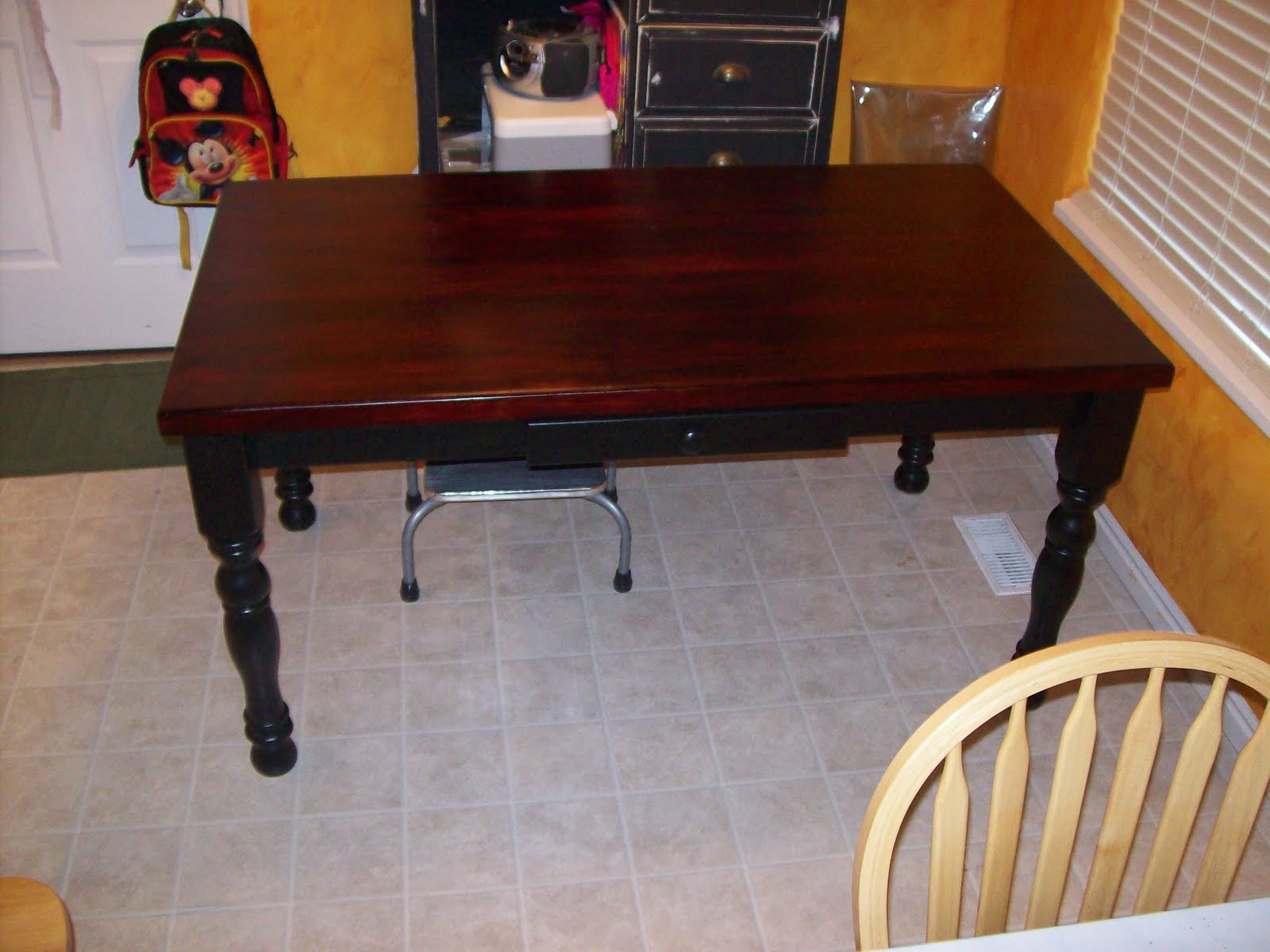 How to refinishing a kitchen table kitchen design photos - Refinishing a kitchen table ...