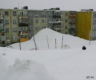 обилен сняг