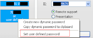 seting password TeamViewer