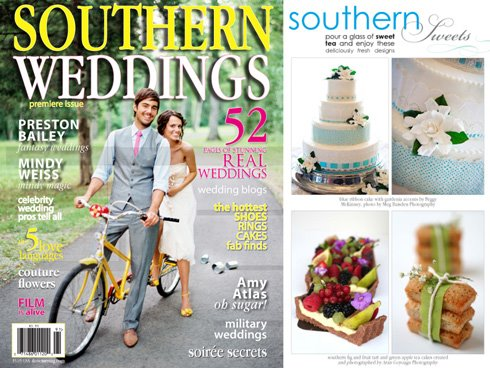 Here is my little contribution to the latest issue of Southern Weddings