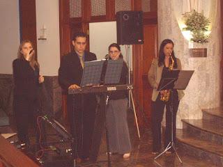 Equipe Melodia Eventos: Élvia, Luciano, Camila e Eu