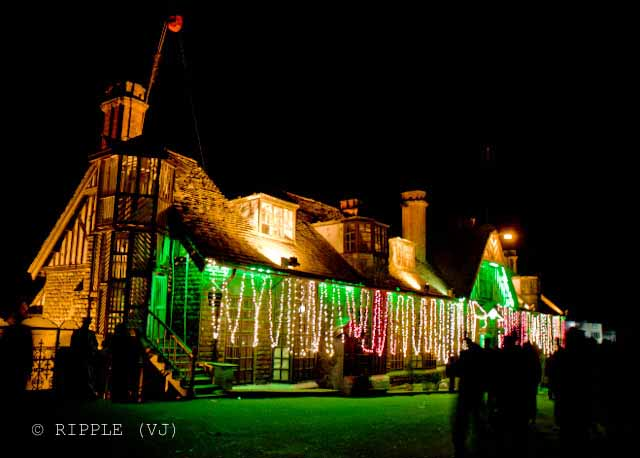 Posted by Ripple (VJ) on PHOTO JOURNEY @ www.travellingcamera.com : Queen of Hills: Shimla on New Year Eve...Amazing Lighting...: Shimla is situated in the north Himalayas and is the capital of Himachal Pradesh state in North India. Shimla is a tourist destination par excellence. It is a beautiful hill town in the lap of nature: surrounded by pine and deodar forests. Temperature is ideal in summers and tourists come here in great numbers. Facilities and amenities are amazing. People are friendly. It is also comparatively safer than other tourist destinations. All this makes it the favorite travel destination of tourists from India and across the world.:ripple, Vijay Kumar Sharma, ripple4photography, Frozen Moments, photographs, Photography, ripple (VJ), VJ, Ripple (VJ) Photography, Capture Present for Future, Freeze Present for Future, ripple (VJ) Photographs , VJ Photographs, Ripple (VJ) Photography : Again a view of Shimla Town-Hall from Ritz... This is back side of the building which faces Ritz...Shimla, formerly Simla, was the summer capital of the British Raj in India. This municipal office, library and more were housed in this building on the Upper Mall which is still in service today.