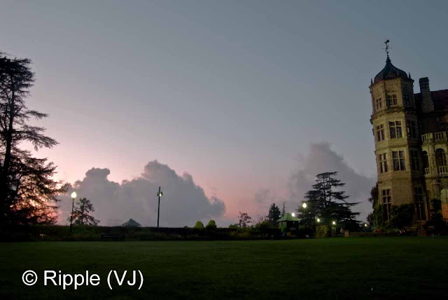 Posted by Ripple (VJ) : Shimla Night View : Clouds coming up in the evening @  Viceregal Lodge, Shimla