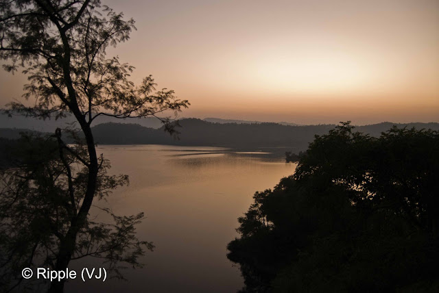 Posted by Ripple (VJ) : Govind Sagar Lake @ Lathiani, UNA, Himachal Pradesh: One can see a long strech of Govind Sagar Lake from a hill which divides Hamirpur District from Una. When I go from Delhi to Hamirpur, this place come on the way.