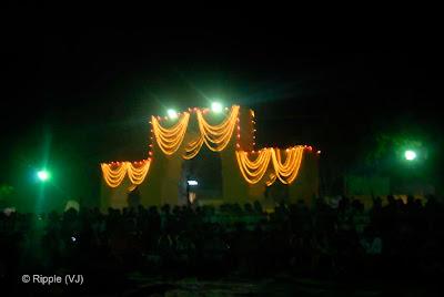 Posted by Ripple (VJ) : Pushkar Night View: Main Entrance for Pushkar Stadium