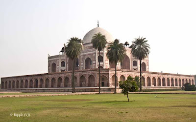 Posted by Ripple (VJ) :  Humayun's Tomb, Delhi : Side view of Humayun's Tomb : Side view of Humayun's TombThe actual tomb of Humayun - the second Mughal emperor.Side view of Humayun's TombEntry for main Tomb...Series of pillars @ Humayun's Tomb, DelhiHumayun's Tomb is very well maintained...Light passing through a window @ Humayun's Tomb, DelhiBeautiful light pattern created by jaali in window @ Humayun's Tomb, DelhiLight pattern created by window light in a pillar @ Humayun's Tomb, DelhiLight pattern inside water body in front of Humayun's Tomb, Delhi