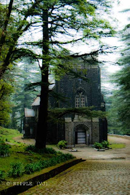 Posted by Ripple (VJ) : The Gothic stone building of the Church was constructed in 1852. The site also has a memorial of the British Viceroy Lord Elgin, and an old graveyard. The church building is also noted for its Belgian stained-glass windows donated by Lady Elgin.: Mcleoganj, Mcloedgaj, Dharmshala, Himachal Pradesh, Saint John Chruch, India, British times, ripple, Vijay Kumar Sharma, ripple4photography, Frozen Moments, photographs, Photography, ripple (VJ), VJ, Ripple (VJ) Photography, Capture Present for Future, Freeze Present for Future, ripple (VJ) Photographs , VJ Photographs, Ripple (VJ) Photography : Himachal Pradesh is arguably the oldest Anglican Cathedral in India.  :  St. John's Church @ Mcleodganj, Himachal Pradesh.