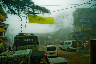 Posted by Ripple (VJ) ON PHOTO JOURNEY/ www.travellingcamera.com : Different colors in Mcleoganj Market on a Foggy Day @ Upper Dharmshala, Himachal Pradesh: Mcleodganj @ Dharmshala, Himachal Pradesh: ripple, Vijay Kumar Sharma, ripple4photography, Frozen Moments, photographs, Photography, ripple (VJ), VJ, Ripple (VJ) Photography, Capture Present for Future, Freeze Present for Future, ripple (VJ) Photographs , VJ Photographs, Ripple (VJ) Photography :  McLeodganj in Himachal Pradesh is the place where Dalai Lama resides. It is thus one of the important tourist destinations of the state. Also known as 'Little Lhasa' the town is the refuge of that Tibetan government, which has been in exile for the past three decades.Buddhist Temple @ Mcleodganj, Dharmshala, Himachal Pradesh: Again a foggy view of Mcleodganj Bus-Stand @ Upper Dharmshala, Himachal Pradesh