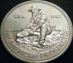 Prospector silver bullion coin