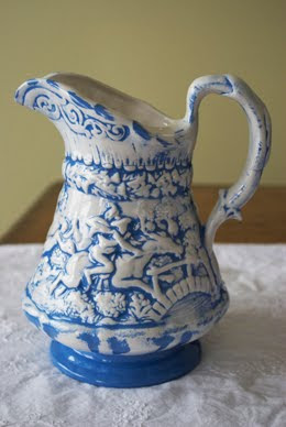 Proper Hunter blue and white pitcher
