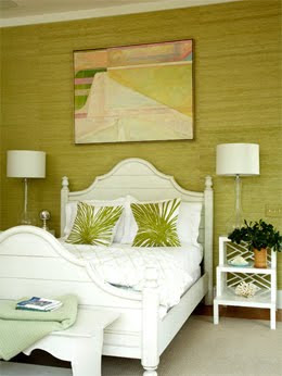 Amanda Nisbet Green Bedroom