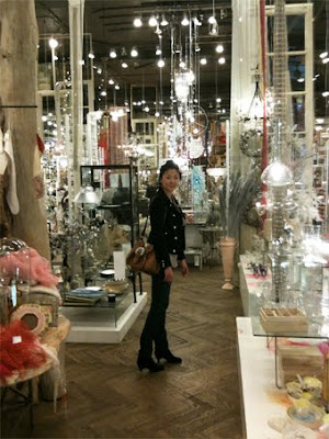 Proper Hunt blogger, Christina Han, shopping home wares at ABC Home in NYC