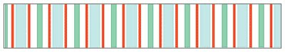 Holiday Stripe Decorative Packing Tape