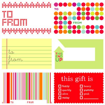 Martha Stewart Printable Gift Tags