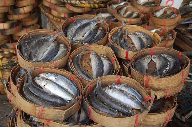 Le marché nous offre ses plus beau poissons fraichement pêchés!