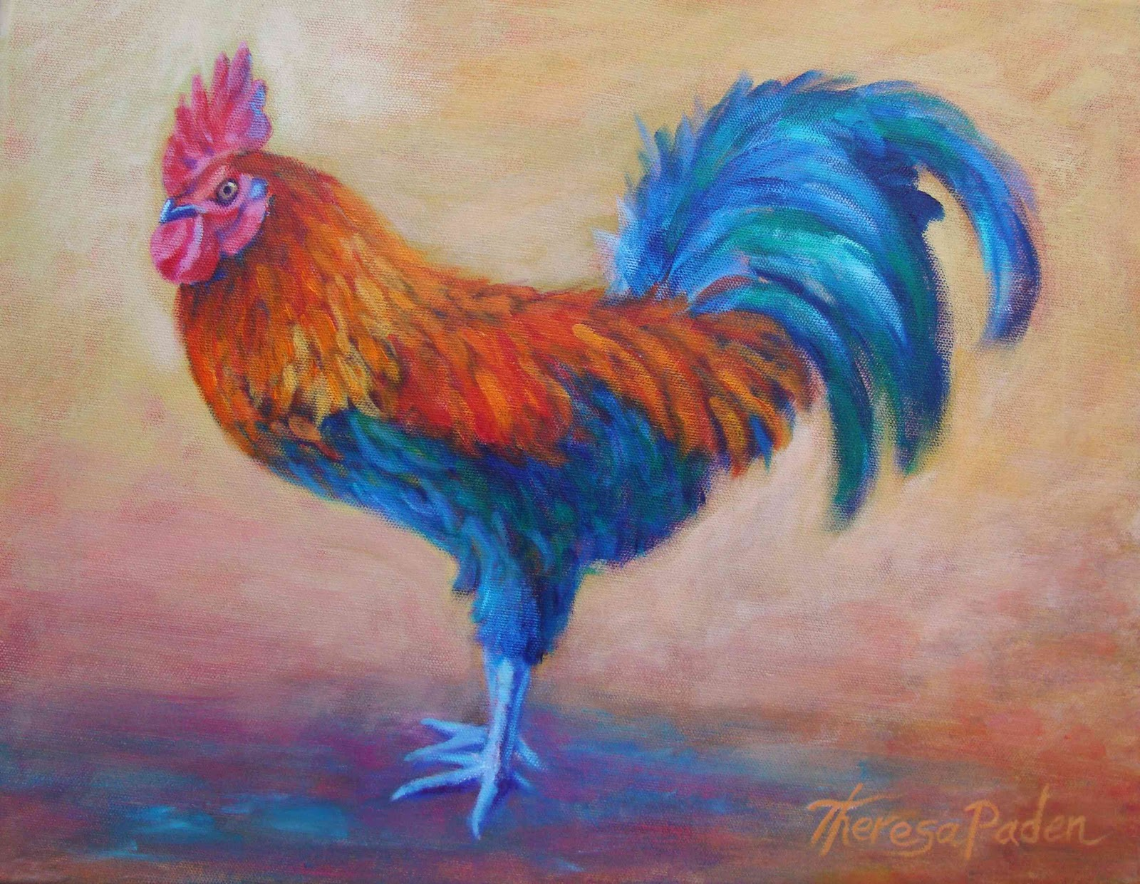 Colorful Rooster Paintings