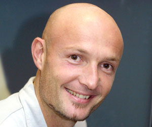 Frank Leboeuf ex world champion with french football team in 1998 will