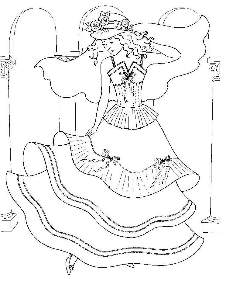 Раскраска принцессы