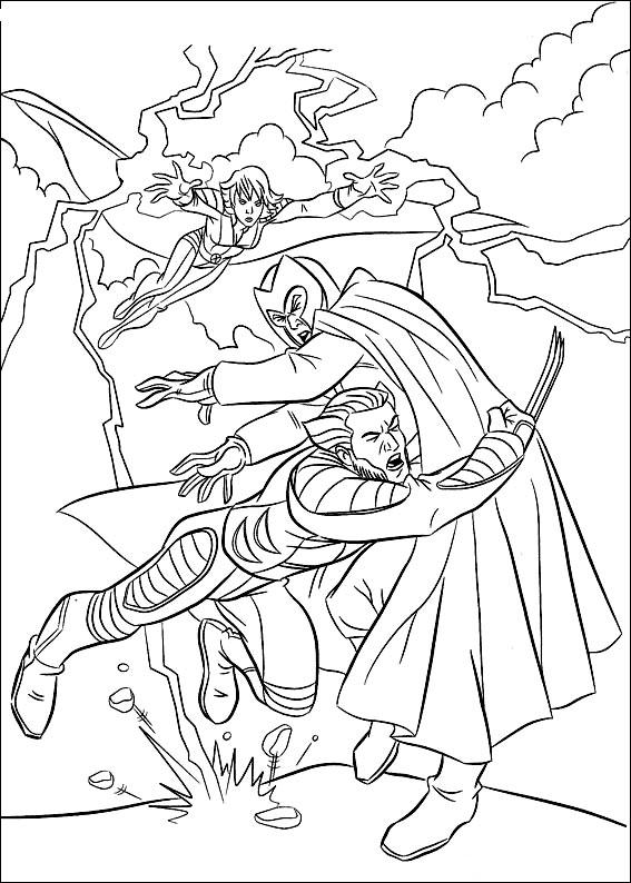 Kids Under 7: X-Men Coloring pages