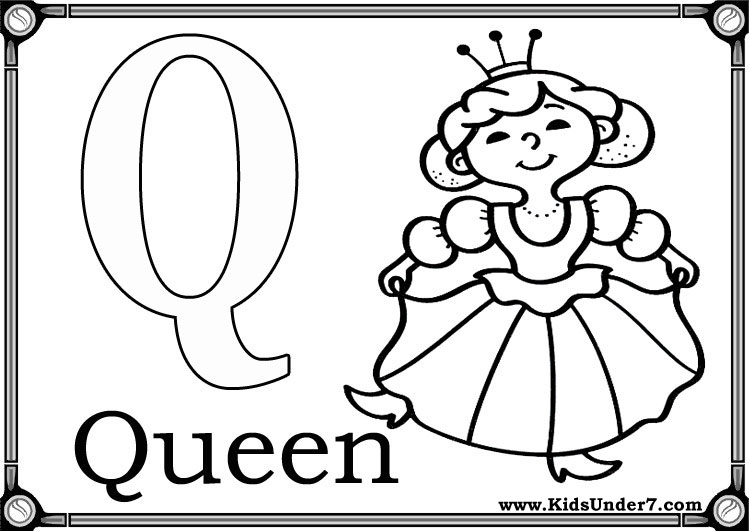 q coloring pages for preschool - photo #1