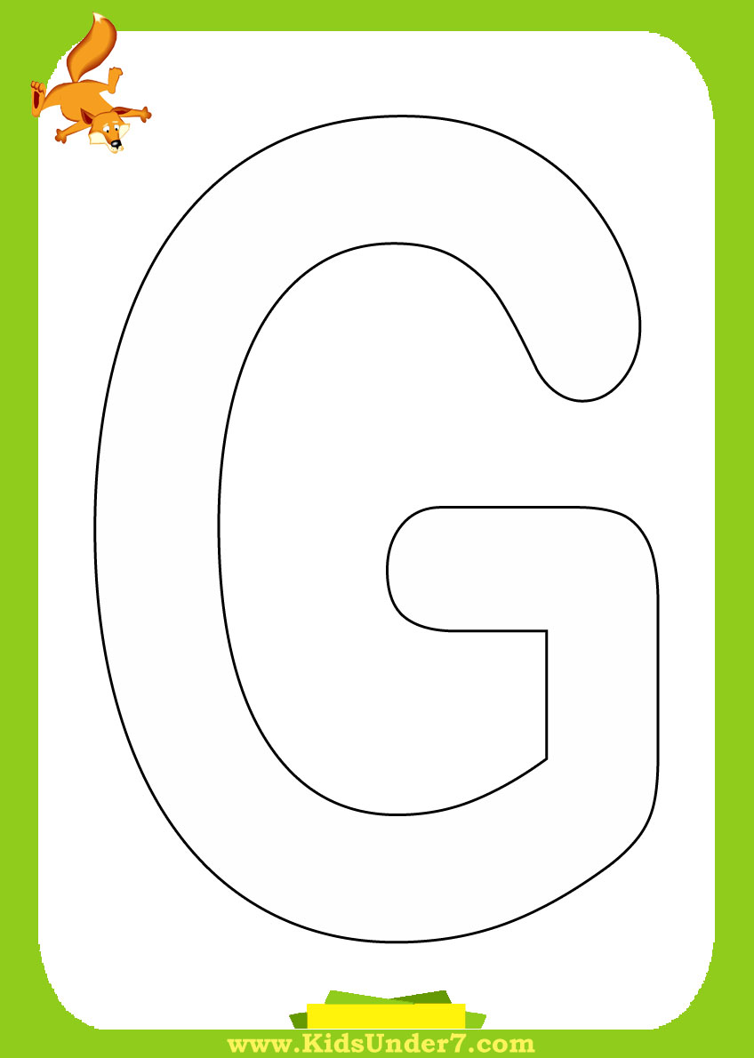 Letter G Coloring Pages  GetColoringPagescom