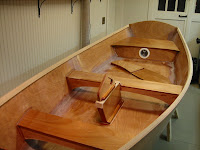 Jimmy Skiff interior during constuction