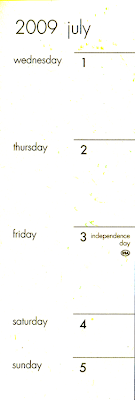 British Pocket Diary Showing July 3rd as Independence Day - USA