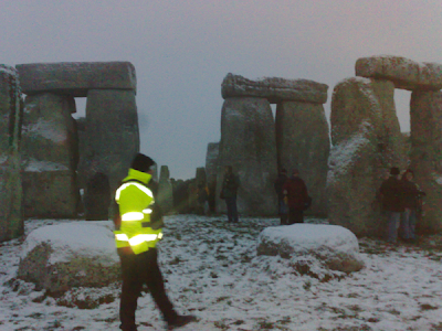 Stonehenge, Wiltshire, England, on the Winter Solstice, 2009.