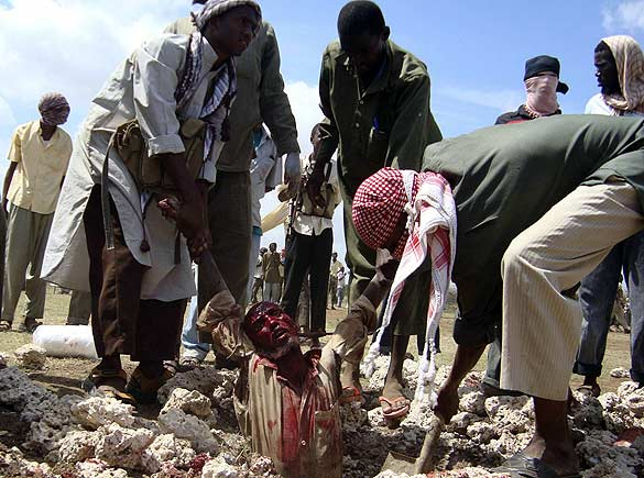 Global glimpse: stoning under Sharia law in Somalia
