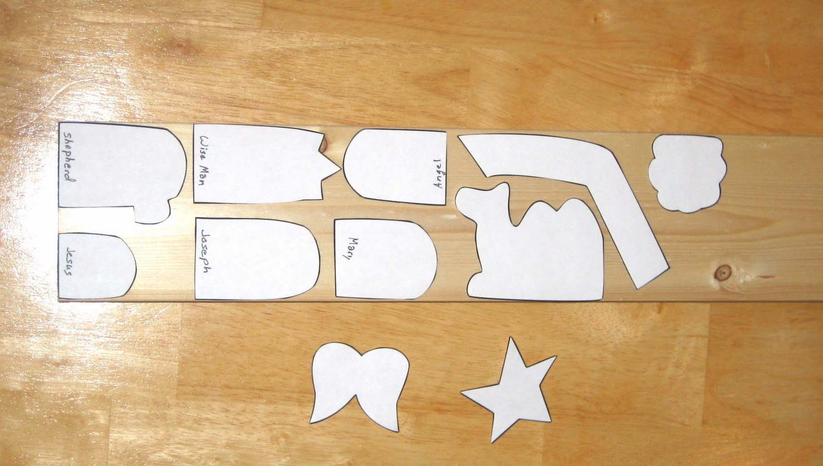 After you print and cut out the pattern, arrange the pieces on your ...