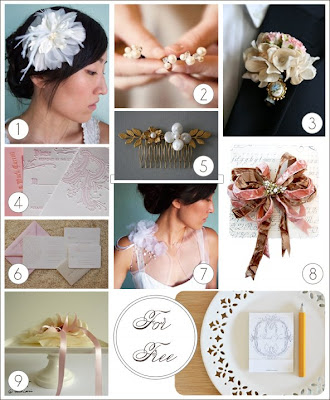 here are some of my favorite handmade wedding accessories selected to