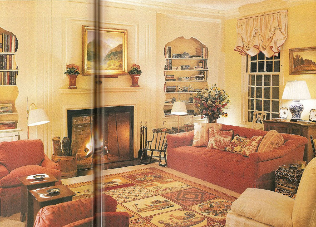 The living room as redecorated by Mark Hampton (Brian Vanden Brink  title=