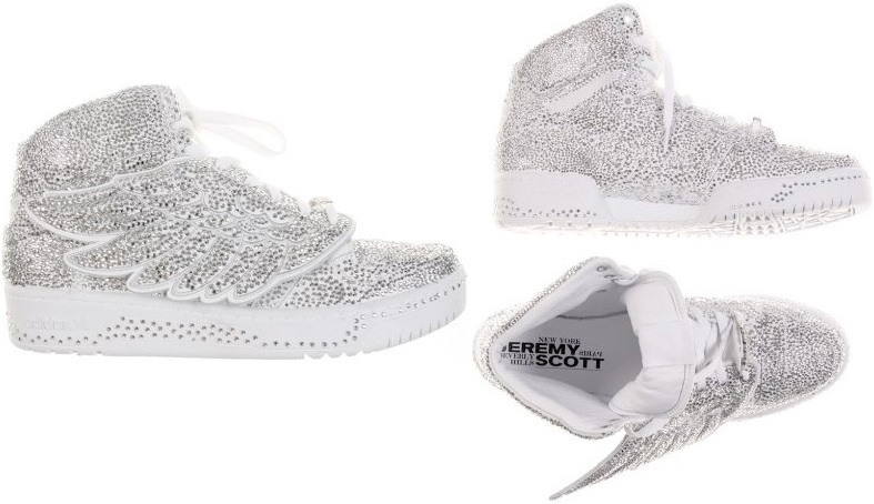 Jeremy Scott Adidas Bear Sneakers. Swarovski studded Jeremy Scott