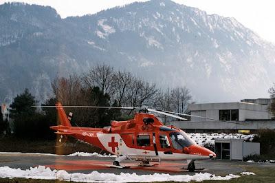 Agusta A109 K2 of the Rega landed near Grindelwald image