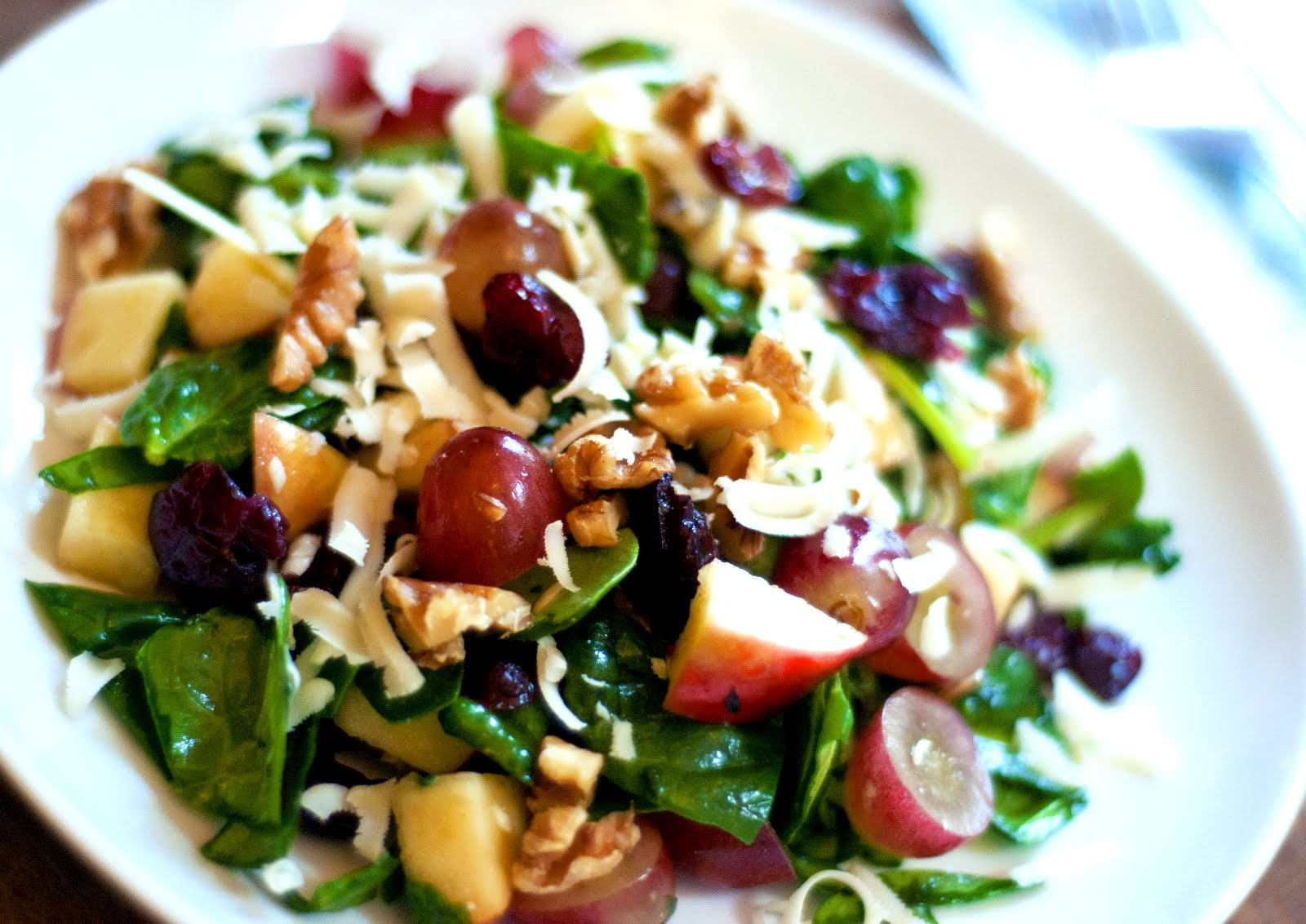 Mother's Recipe Mementos: Spinach Salad with Cranberry ...