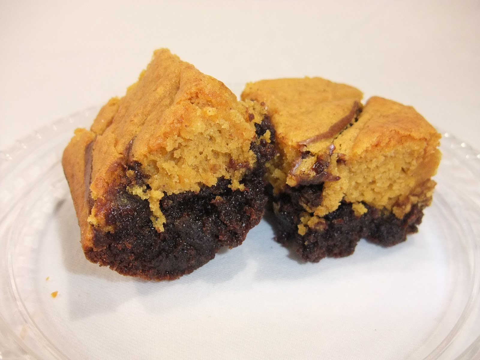 Aunt Peg's Recipe Box: Pumpkin Swirl Brownies