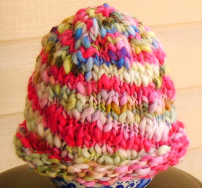 Essiewb Knitting My Way Through Free Hat Pattern Rolled Brim