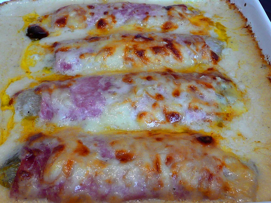 Baked Belgian Endive With Ham And Cheese Recipes — Dishmaps