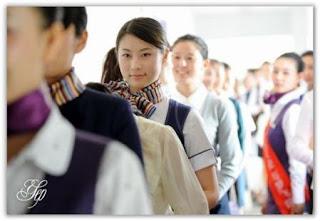 Test awal perekrutan pramugari2 di China Airlines, m ereka cantik ...