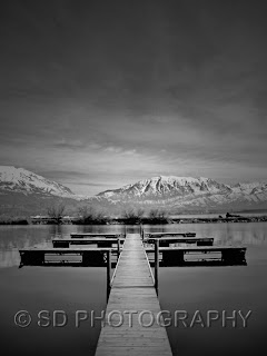 A dock at the American Fork marina of Utah Lake