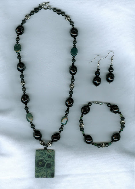 Green and Black Kambaba Jasper Stone