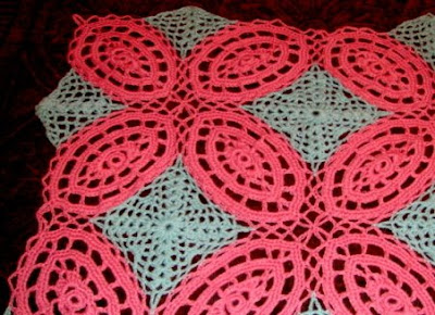 Loop N Lace Wedding Ring Crochet Afghan Pattern Annie's | eBay