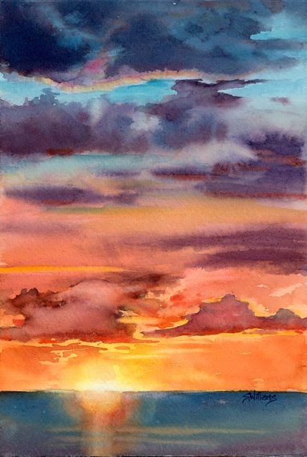Sharon lynn williams 39 art blog sunset i watercolour for Set painting techniques