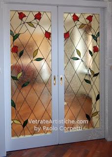 Vetrate artistiche roma by paolo corpetti vetri per porte for Vetrate per interni