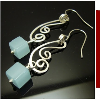 handmade wirewrapped earrings