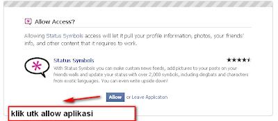 Facebook Status Symbols