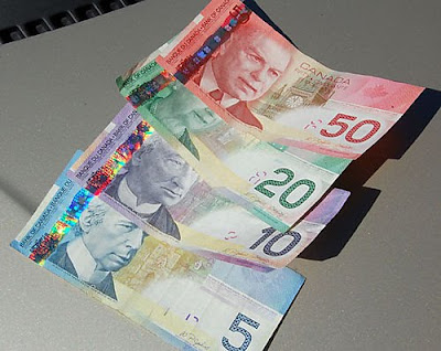 Canada: The most fashionably flamming money in the world!