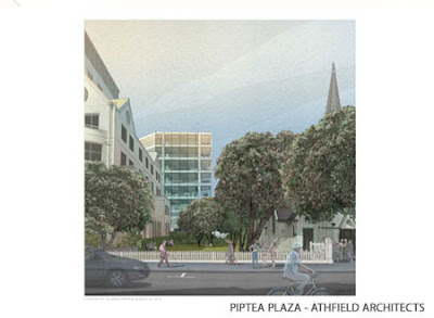 Rendering of Pipitea Plaza