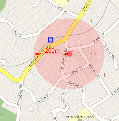 The vicinity of 9 Nicholson Rd, Khandallah