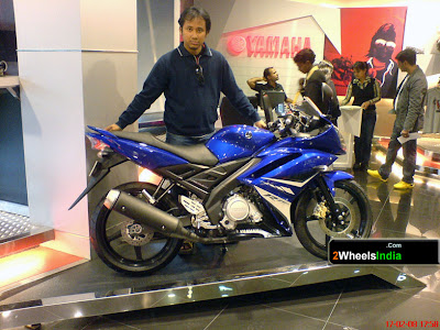 Payeng with the Yamaha R15